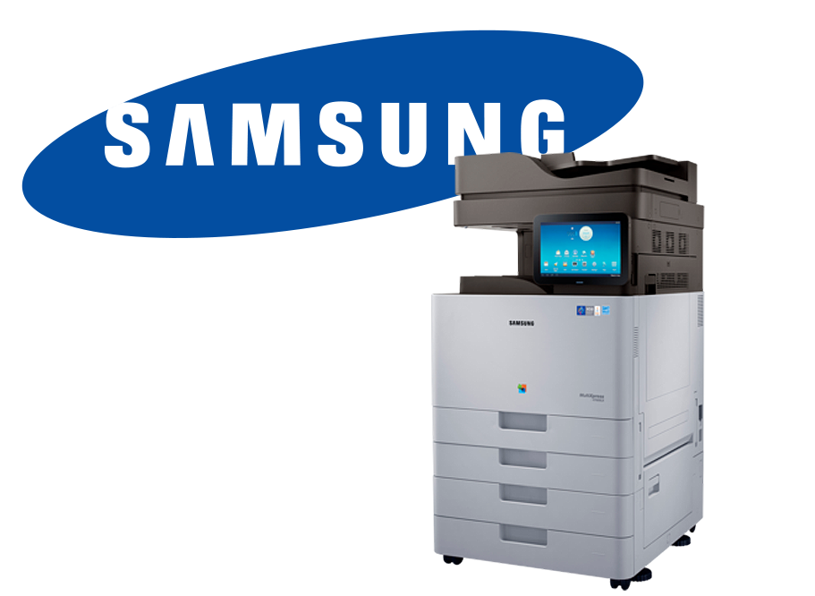 Samsung scan print and copy machine with logo