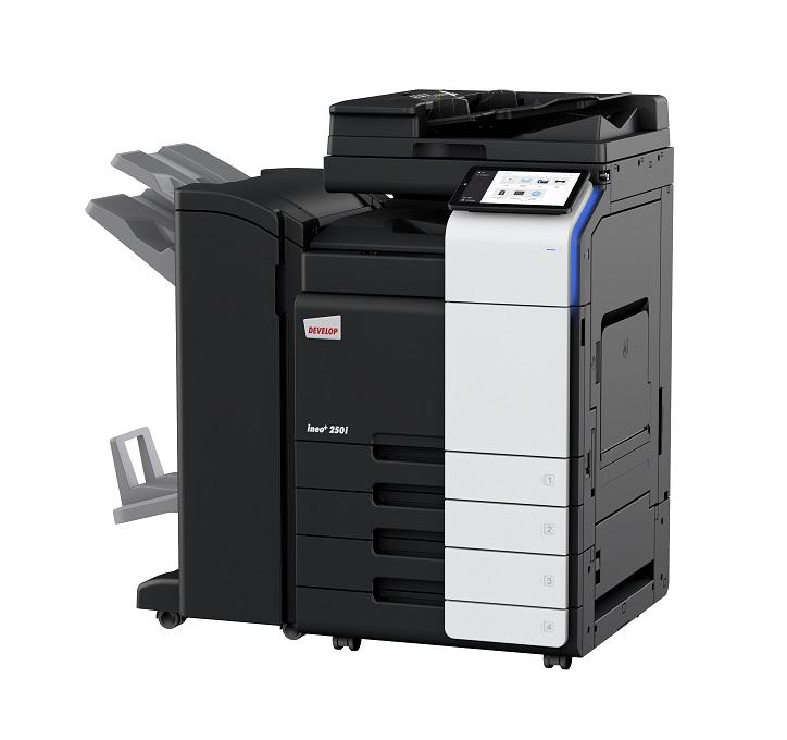Develop photocopier on white background